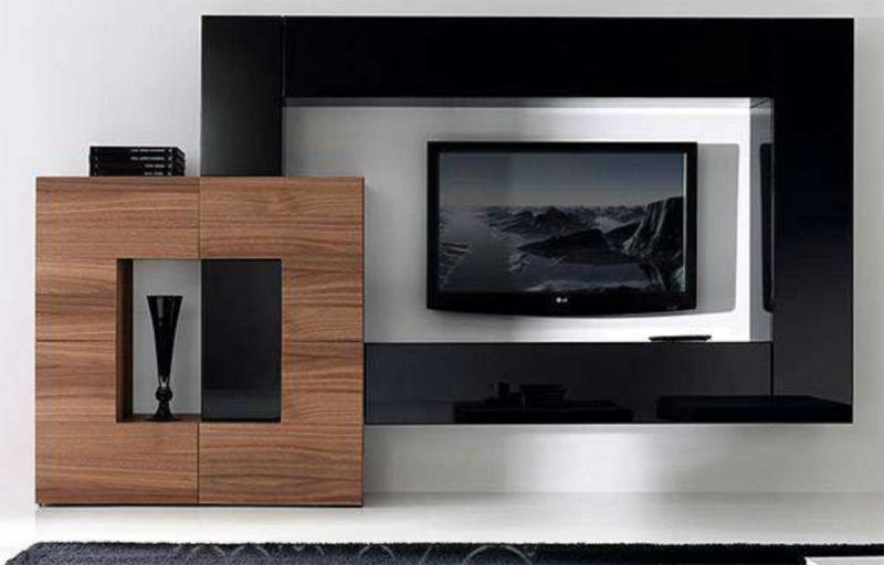 Mueble minimalista para tv y equipo de sonido for Mueble minimalista